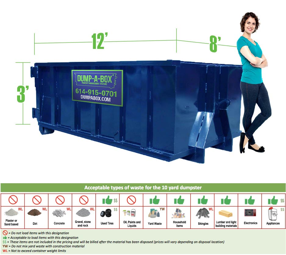 Image of dumpster: 10YD 3 Day
